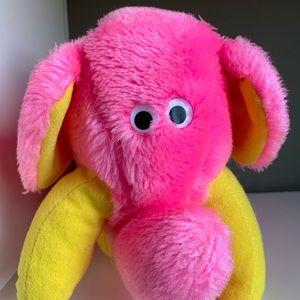 Dole Trudy Bananimal Elephant Plush Pink VTG